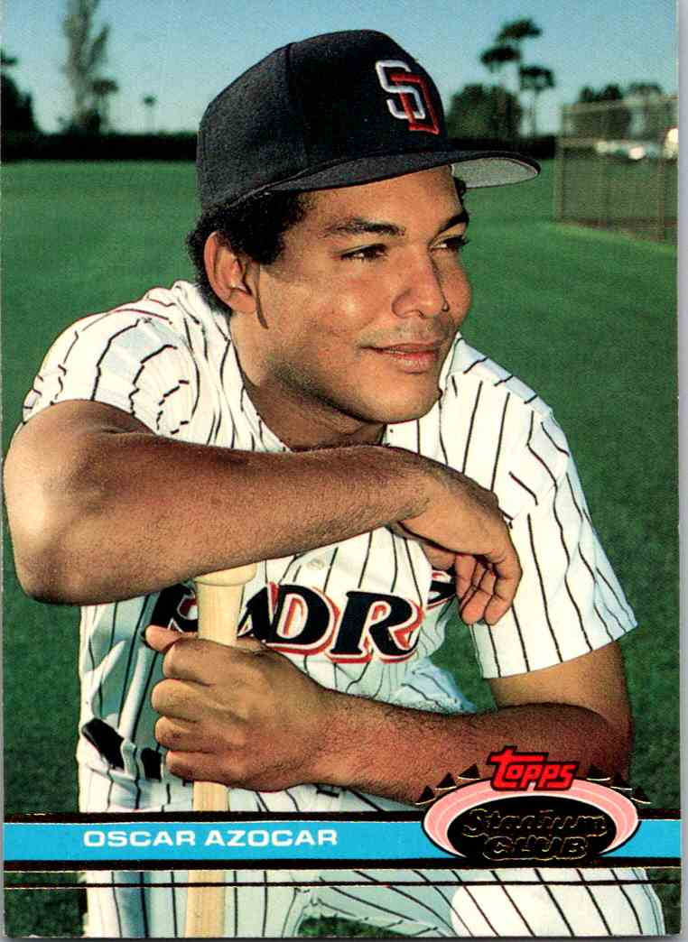 1990 Topps Stadium Club Oscar Azocar #450 card front image