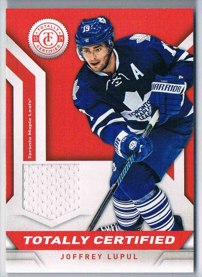 2013-14 Panini Totally Certified Jersey Red Joffrey Lupul #TC-JLU card front image
