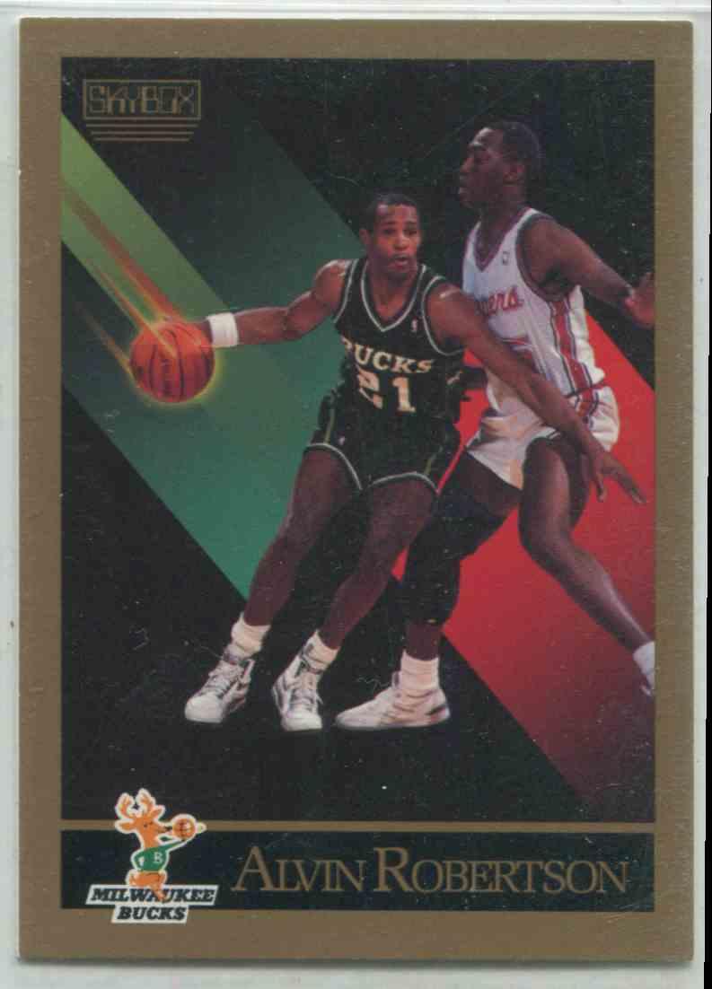 1990 91 Skybox Alvin Robertson 165 on Kronozio