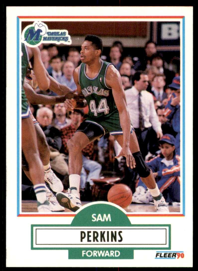 1990-91 Fleer Sam Perkins #43 card front image
