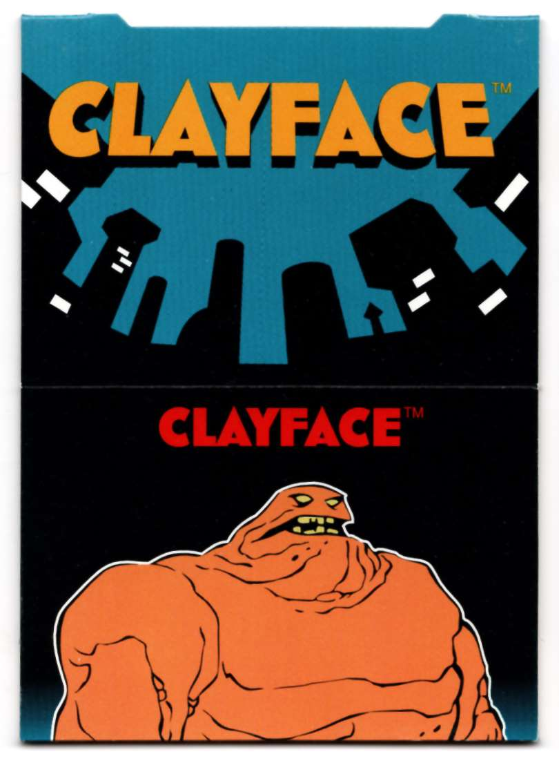 1995 Skybox Adventures Of Batman And Robin Pop Up Card Clayface #8 card front image