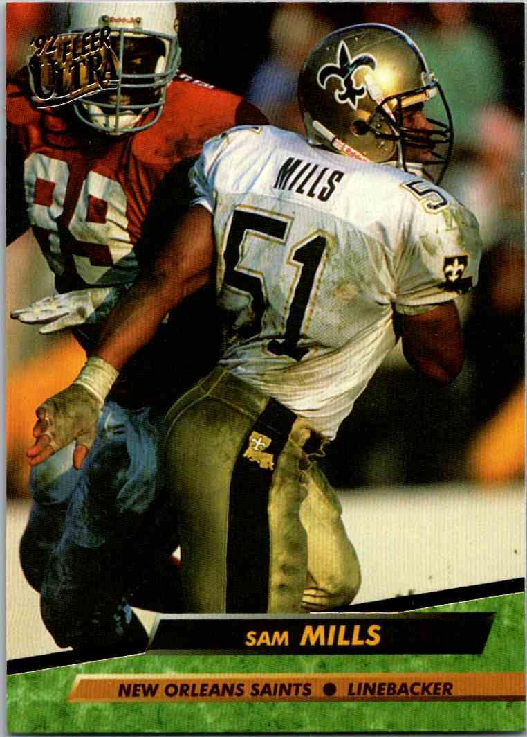 1992 Fleer Ultra Sam Mills #268 card front image