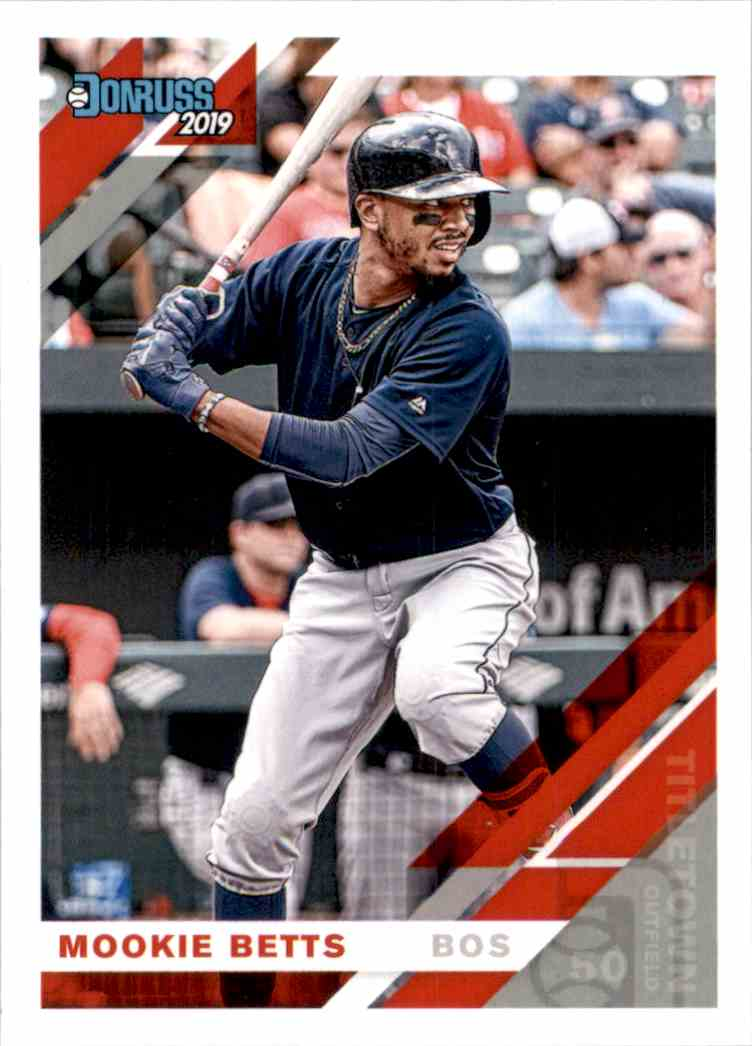 2019 Donruss Variations Mookie Betts #101 card front image
