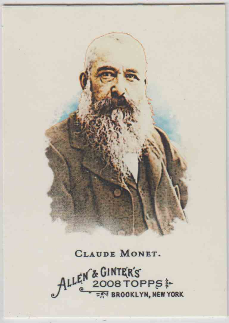 2008 Topps Allen And Ginter Clude Monet #176 card front image