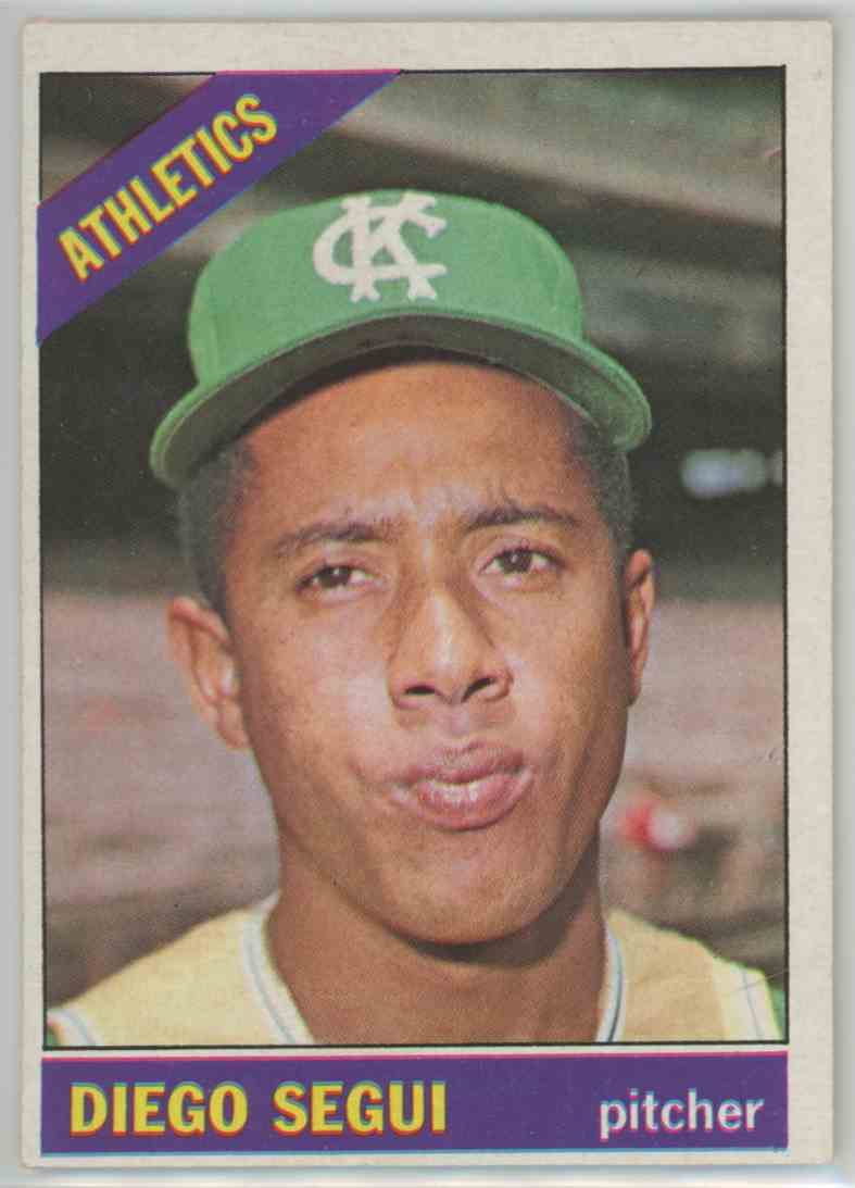 1966 Topps Diego Segui #309 card front image