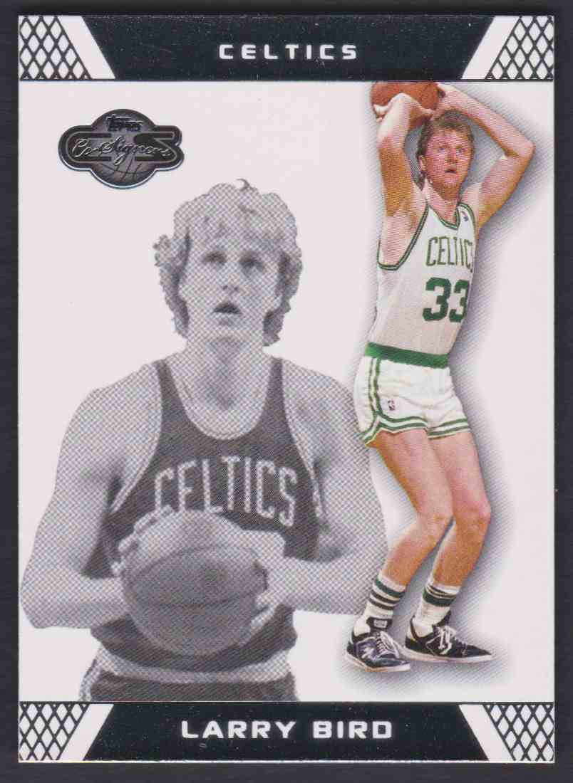 2007-08 Topps Co-Signers Larry Bird #33 card front image
