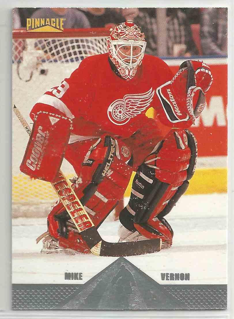 1996-97 Pinnacle Premium Stock Mike Vernon #16 card front image