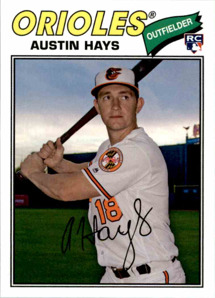 2018 Topps Archives Austin Hays #186 card front image