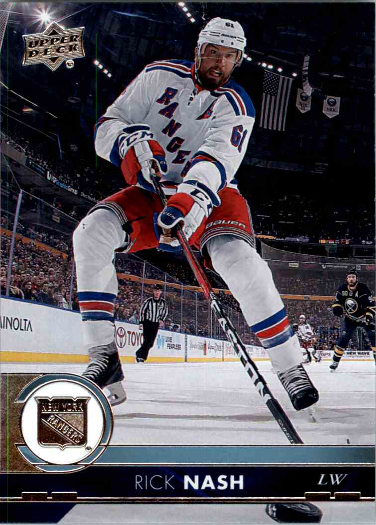 2017-18 Upper Deck Series 1 Rick Nash #131 card front image