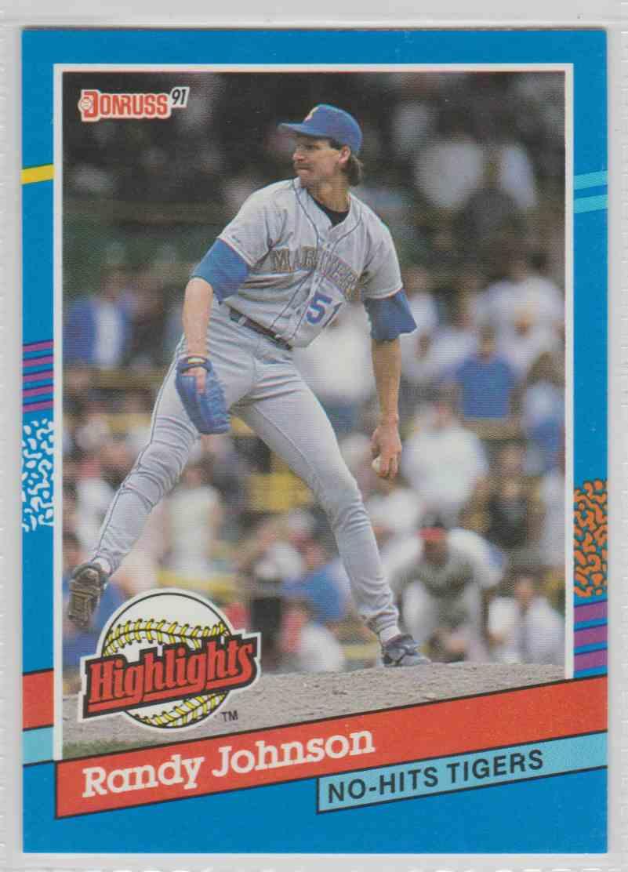 1991 Donruss Highlights Highlights Randy Johnson Bc 2 On
