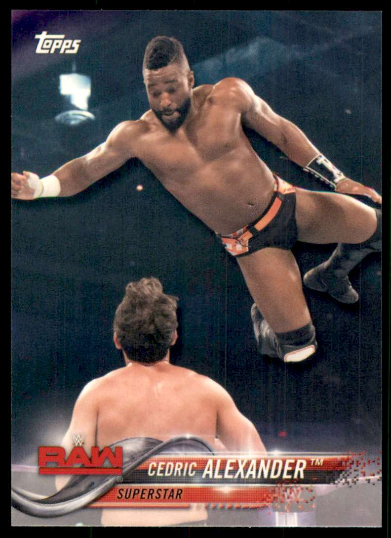 2018 Topps Wwe Cedric Alexander #22 card front image
