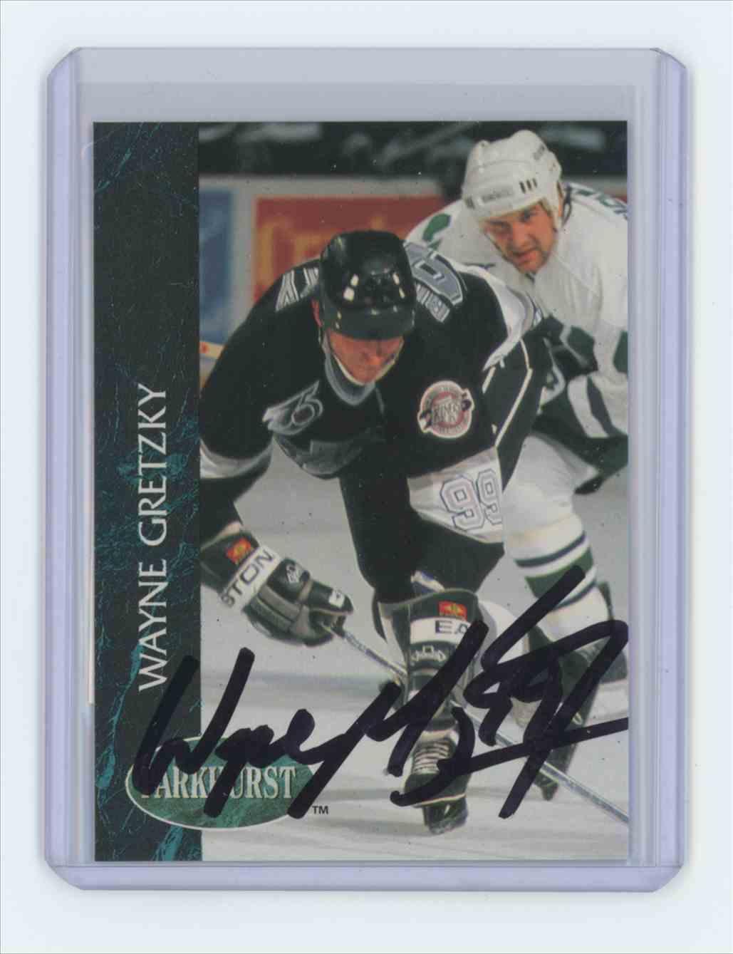1992 1992-93 Parkhurst #65 Wayne Gretzky Los Angeles Kings Auto Wayne Gretzky #65 card front image