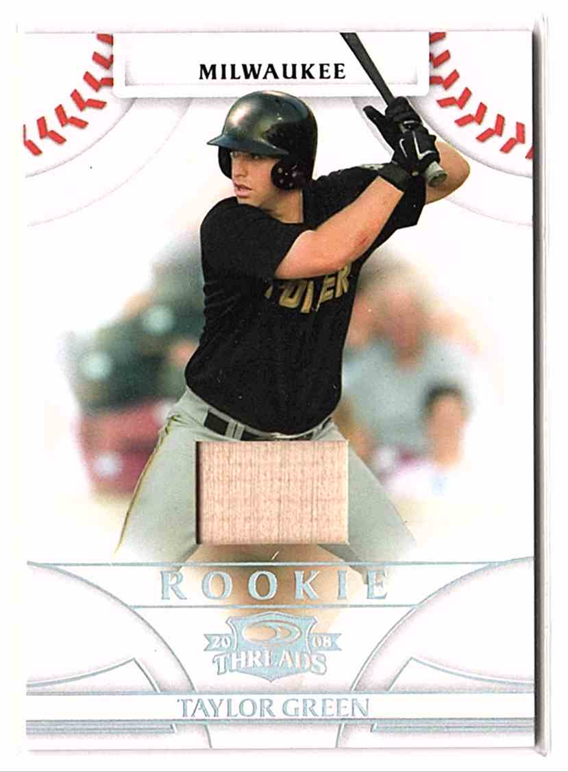 2008 Donruss Threads Bats Taylor Green #128 card front image