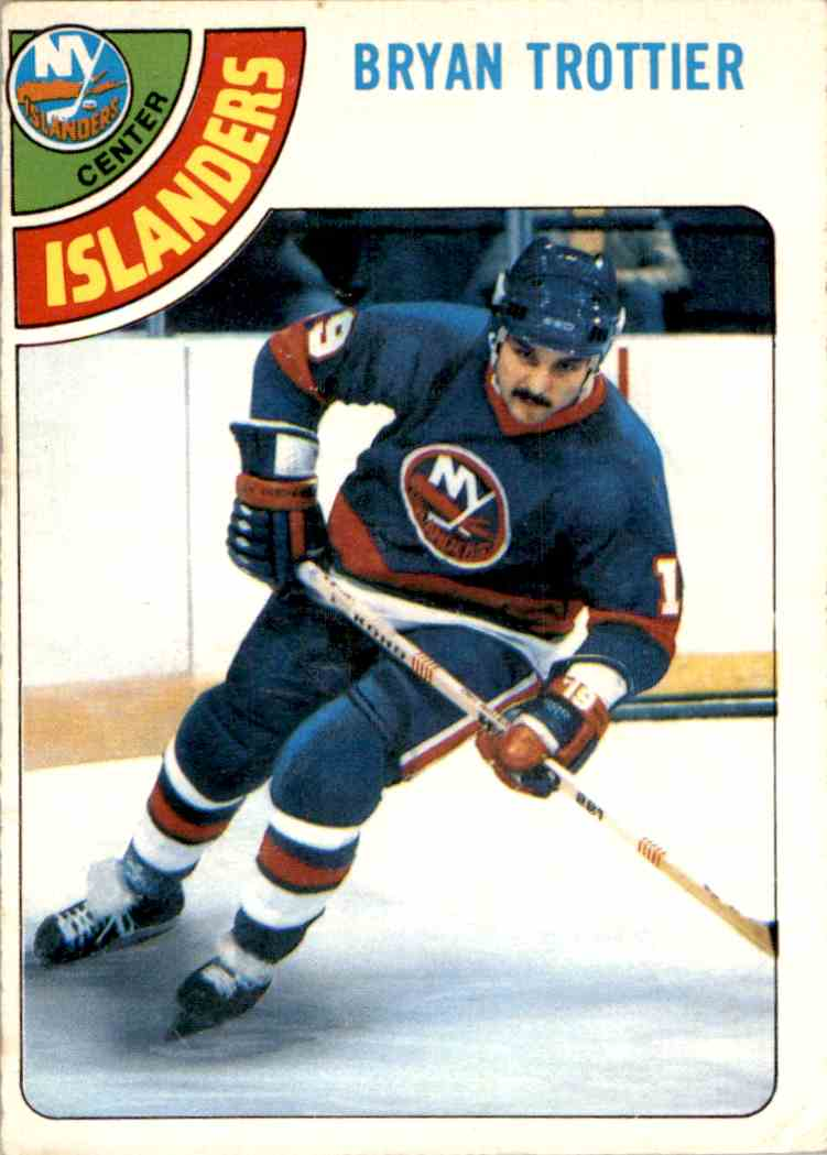 1978-79 O-Pee-Chee Bryan Trottier #10 card front image