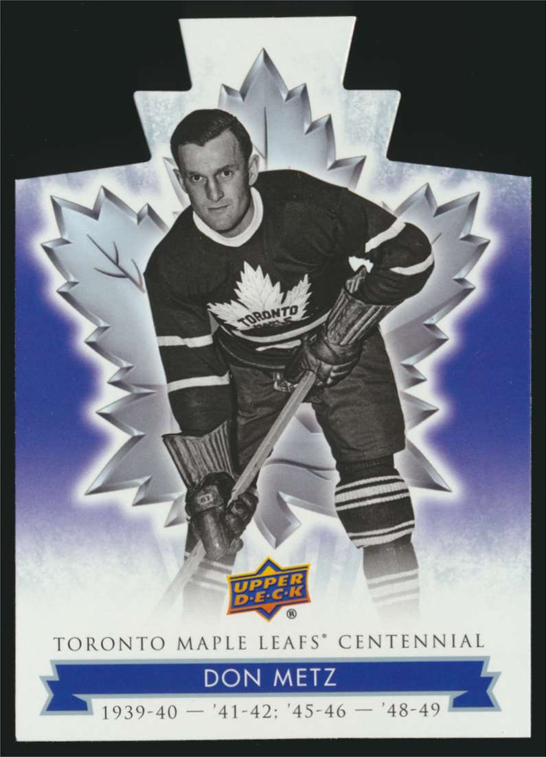 2017-18 UD Maple Leafs Centennial Die Cut Don Metz #88 card front image