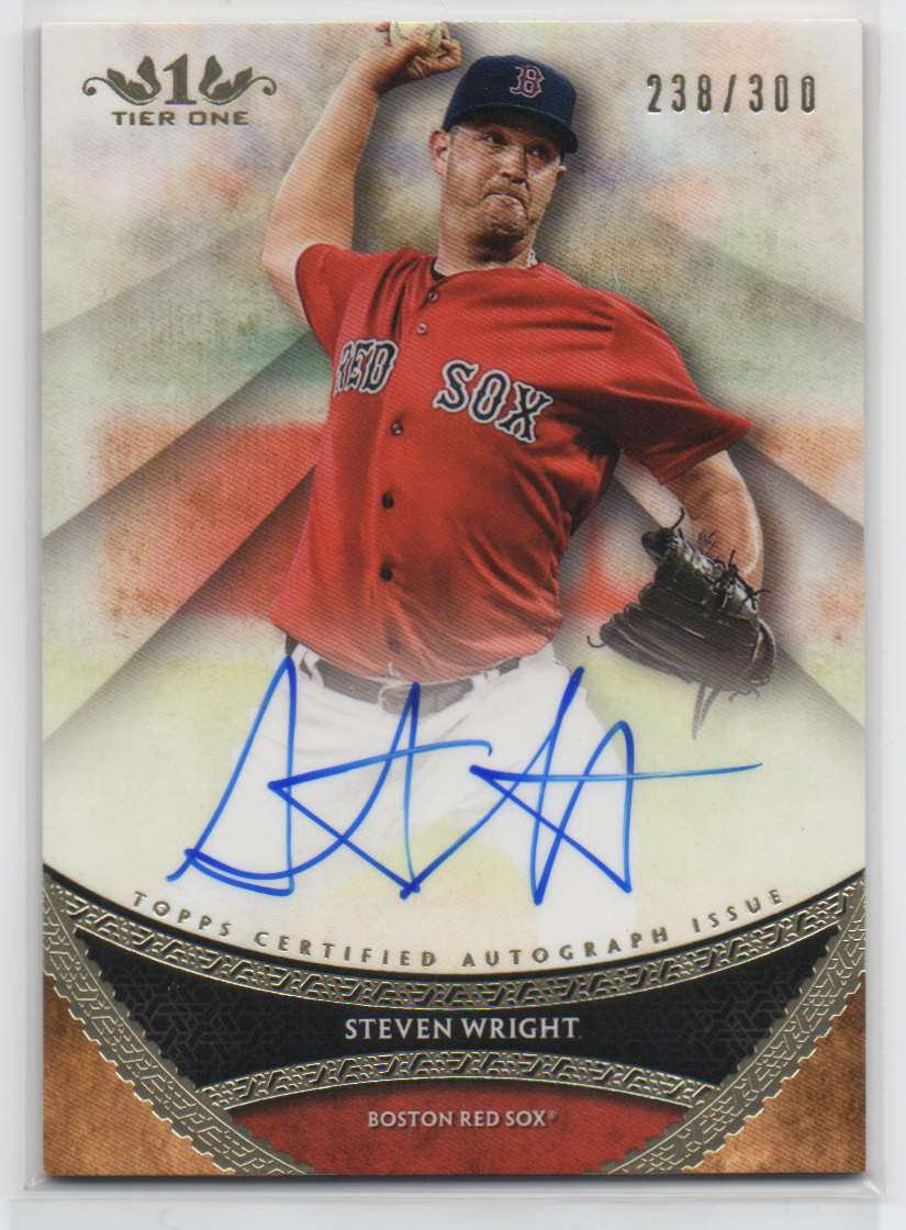2017 Topps Tier One Prime Performers Autographs Steven Wright #PPA-SWR card front image