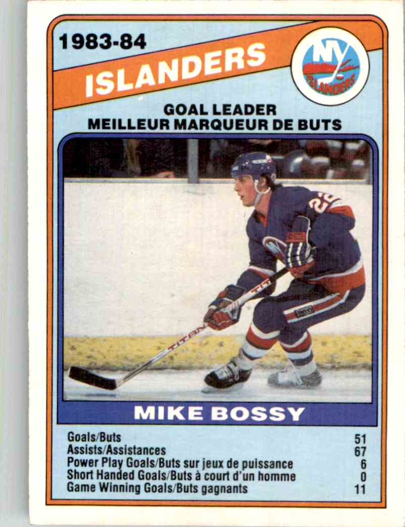 1984-85 O-Pee-Chee Mike Bossy #362 card front image
