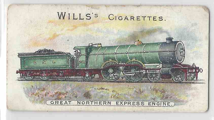1901 Will's Locomotives & Rolling Stock Great Northern Express Engine #NON card front image