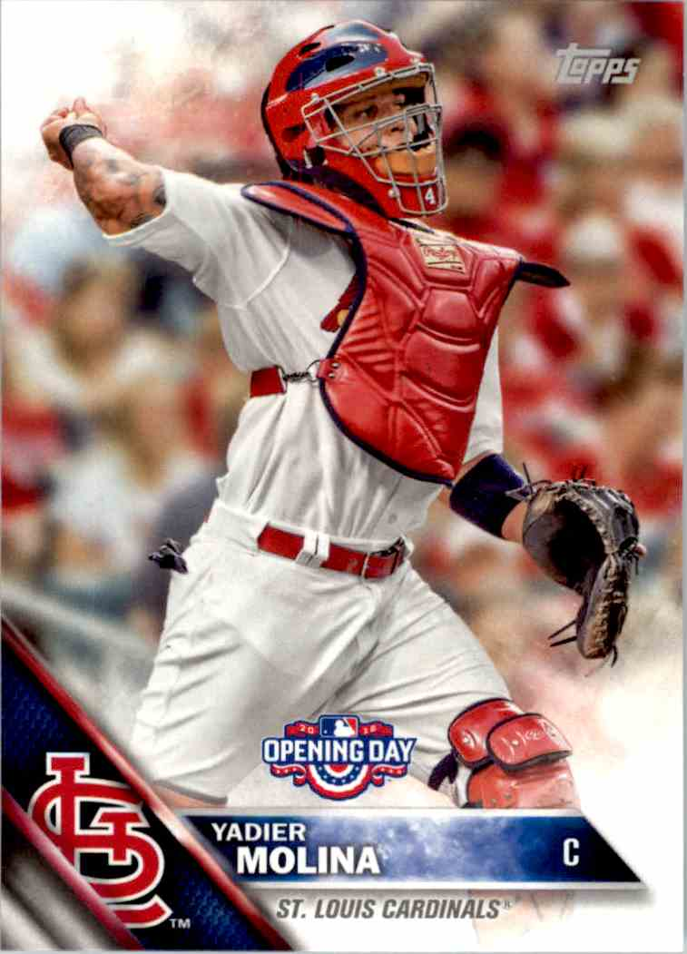 2016 Topps Opening Day Yadier Molina #OD-62 card front image