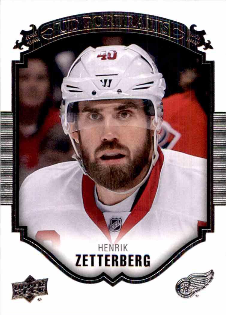 2015-16 Upper Deck Portraits Henrik Zetterberg #P23 card front image