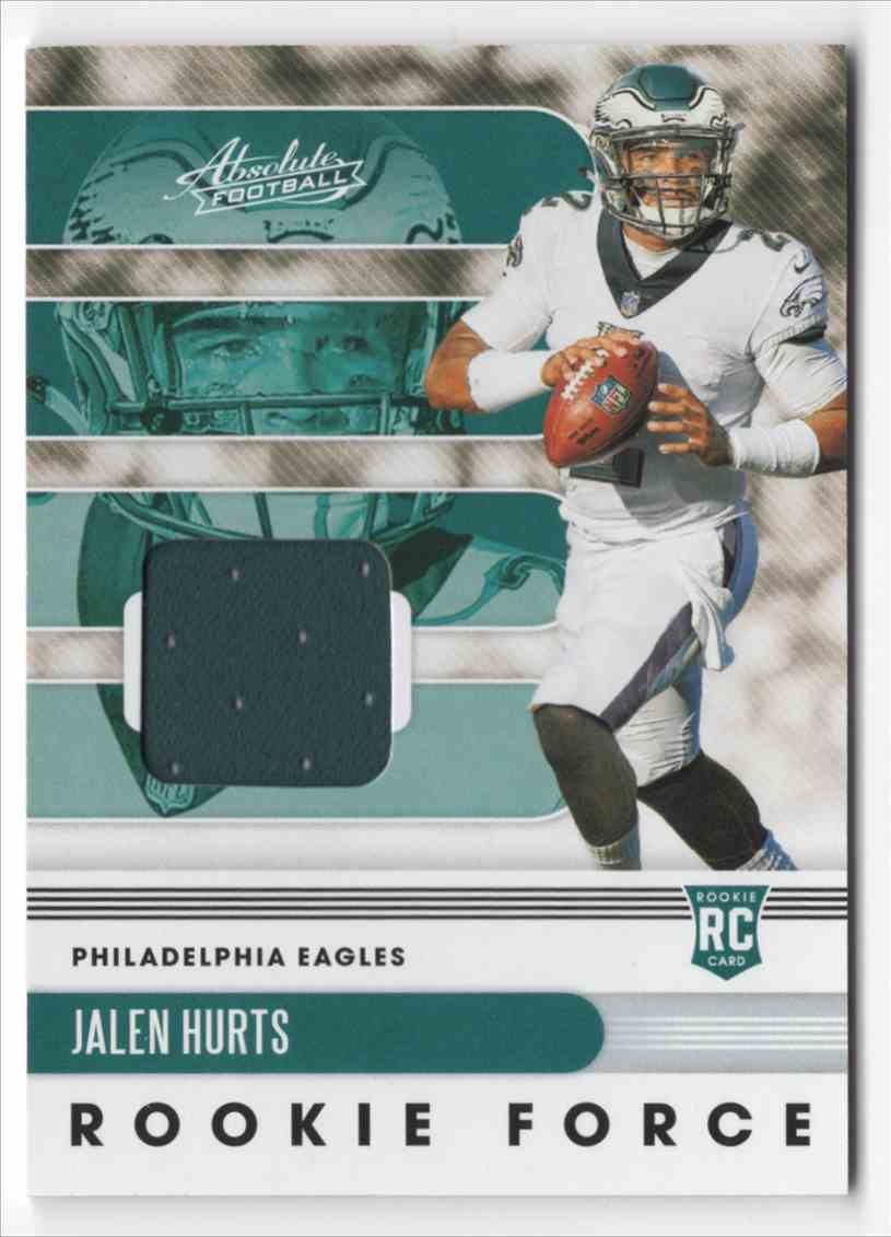 2020 Absolute Rookie Force Jerseys Jalen Hurts #14 card front image