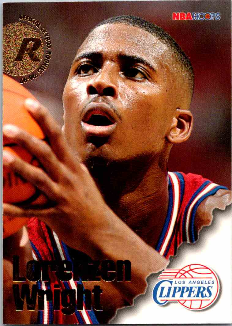 1997-98 NBA Hoops Lorenzen Wright #317 card front image