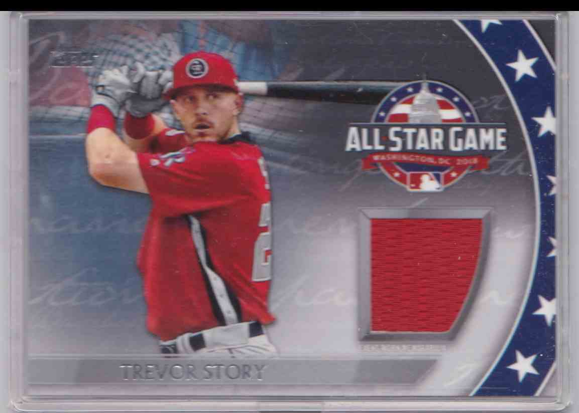 2018 Topps Update Series All-Star Stitches Trevor Story #AST-TS card front image