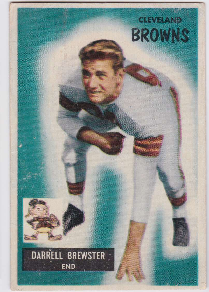 1955 Bowman Darrell Brewster #93 card front image