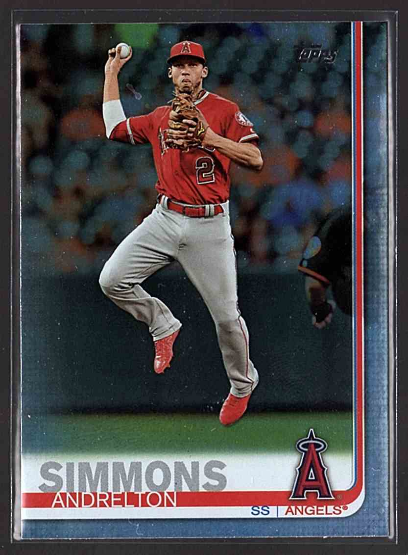 2019 Topps Rainbow Foil Andrelton Simmons #255 card front image