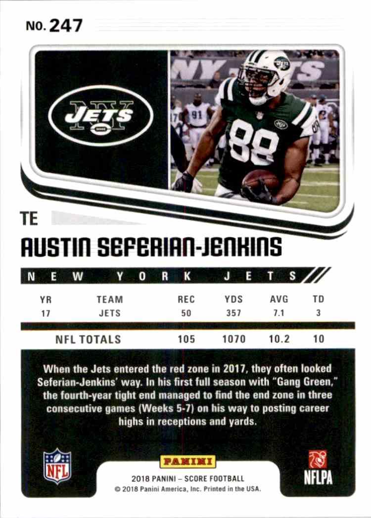 2018 Panini Score Austin Seferian-Jenkins #247 card back image