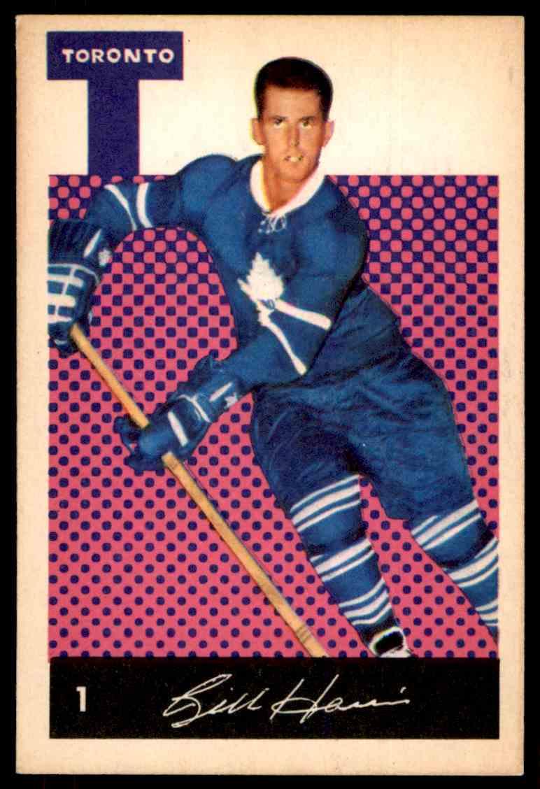 1962-63 Parkhurst Billy Harris #1 card front image