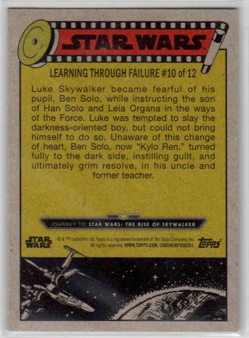 2019 Topps Star Wars Journey To Rise Of Skywalker The Judgement Of Kylo Ren #52 card back image