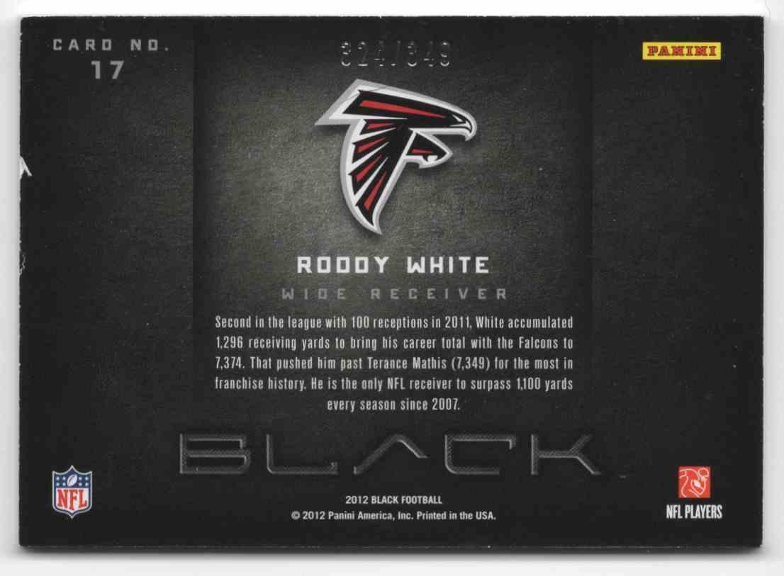 2012 Panini Black Weaponry Roddy White #17 card back image