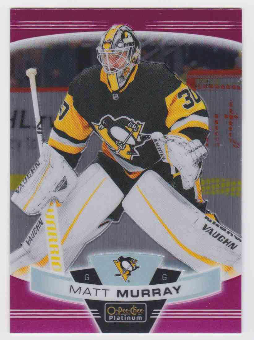 2019-20 Upper Deck Hockey O-Pee-Chee Platinum Matt Murray - Matte Pink #146 card front image