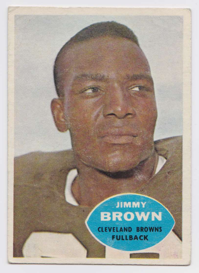 1960 T.C.G. Jim Brown #23 card front image