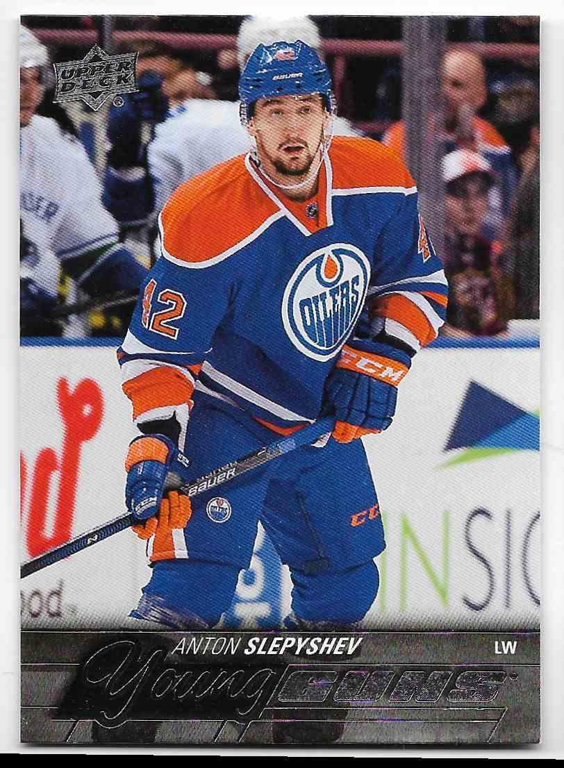 2015-16 Upper Deck Anton Slepyshev #237 card front image