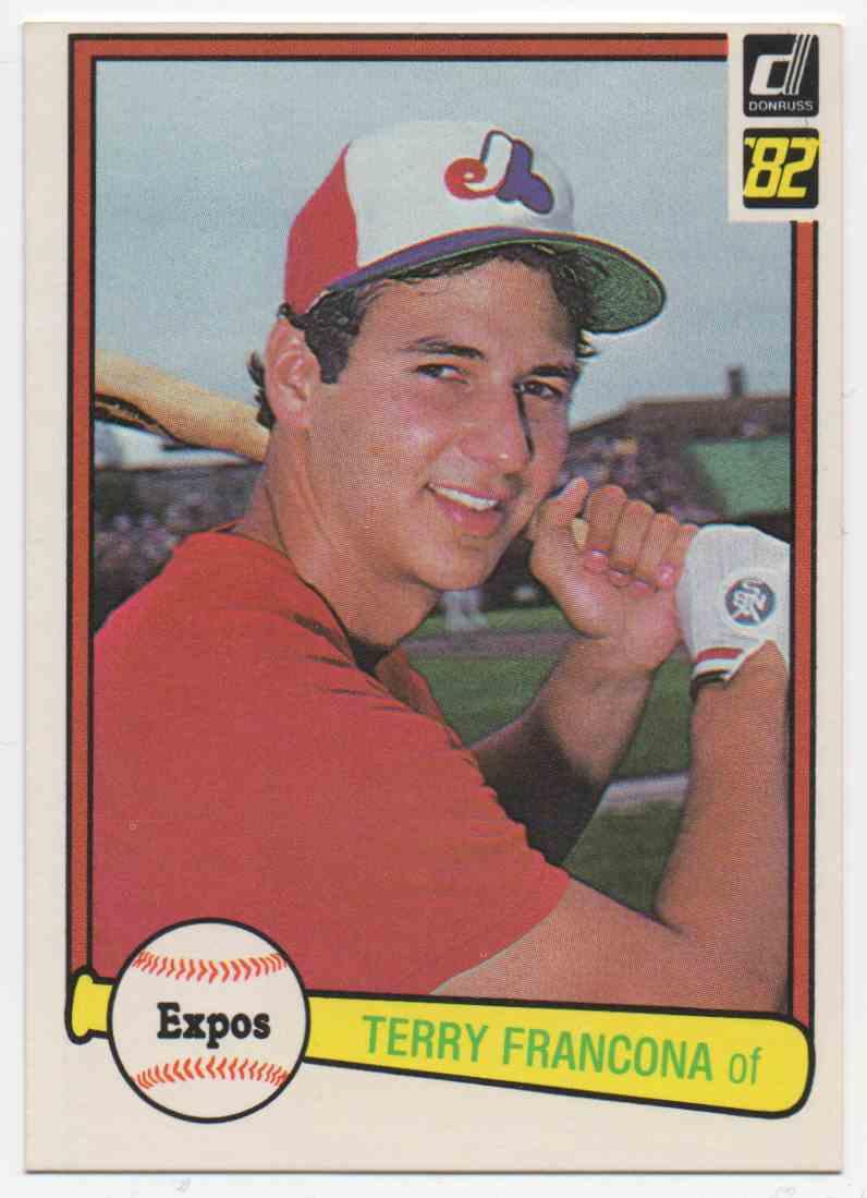 1982 Donruss Terry Francona #627 card front image