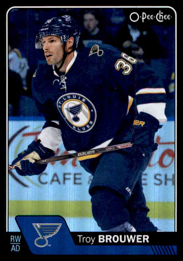 2016-17 O-Pee-Chee Rainbow Black Troy Brouwer #139 card front image