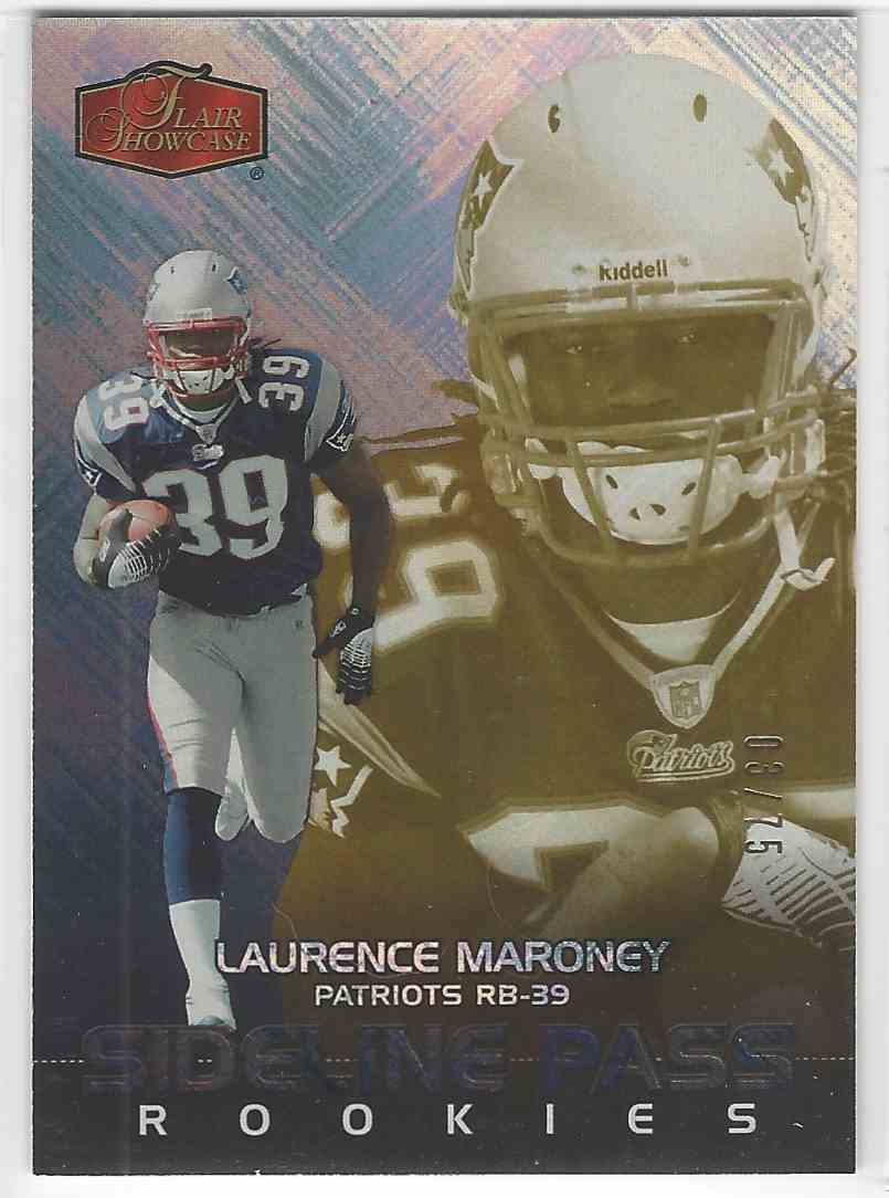 2006 Flair Showcase Sideline Pass Laurence Maroney #231 card front image