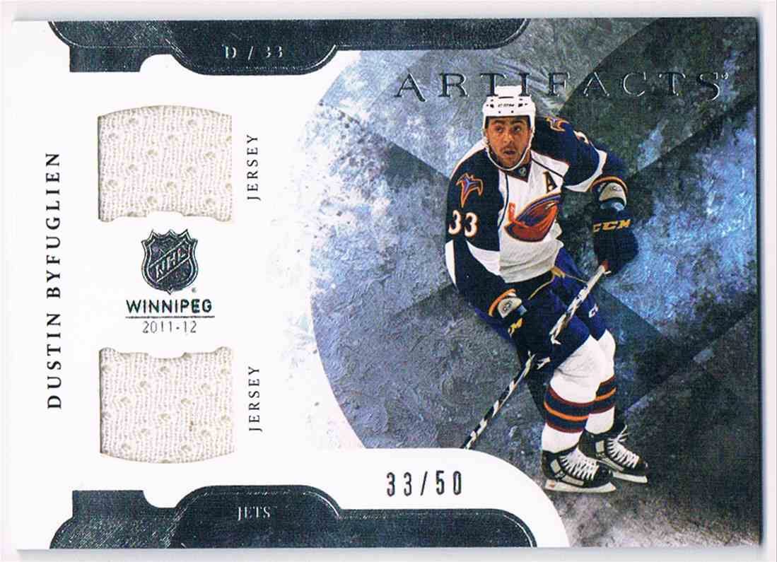 wholesale dealer 528d9 3baa4 2011-12 Artifacts Dual Jerseys Dustin Byfuglien #49 on ...