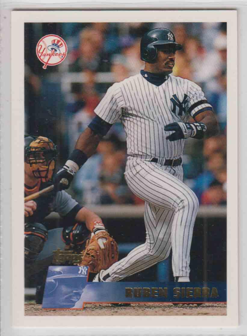 1996 Topps Ruben Sierra #290 card front image