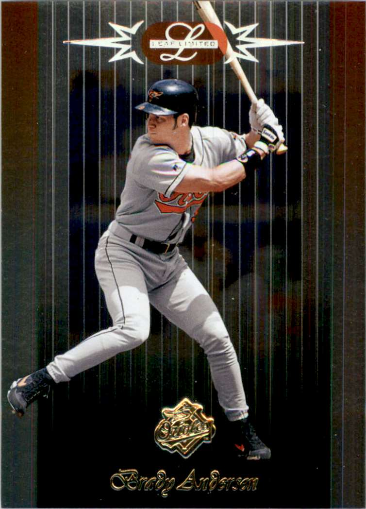1996 Leaf Limited Brady Anderson #64 card front image