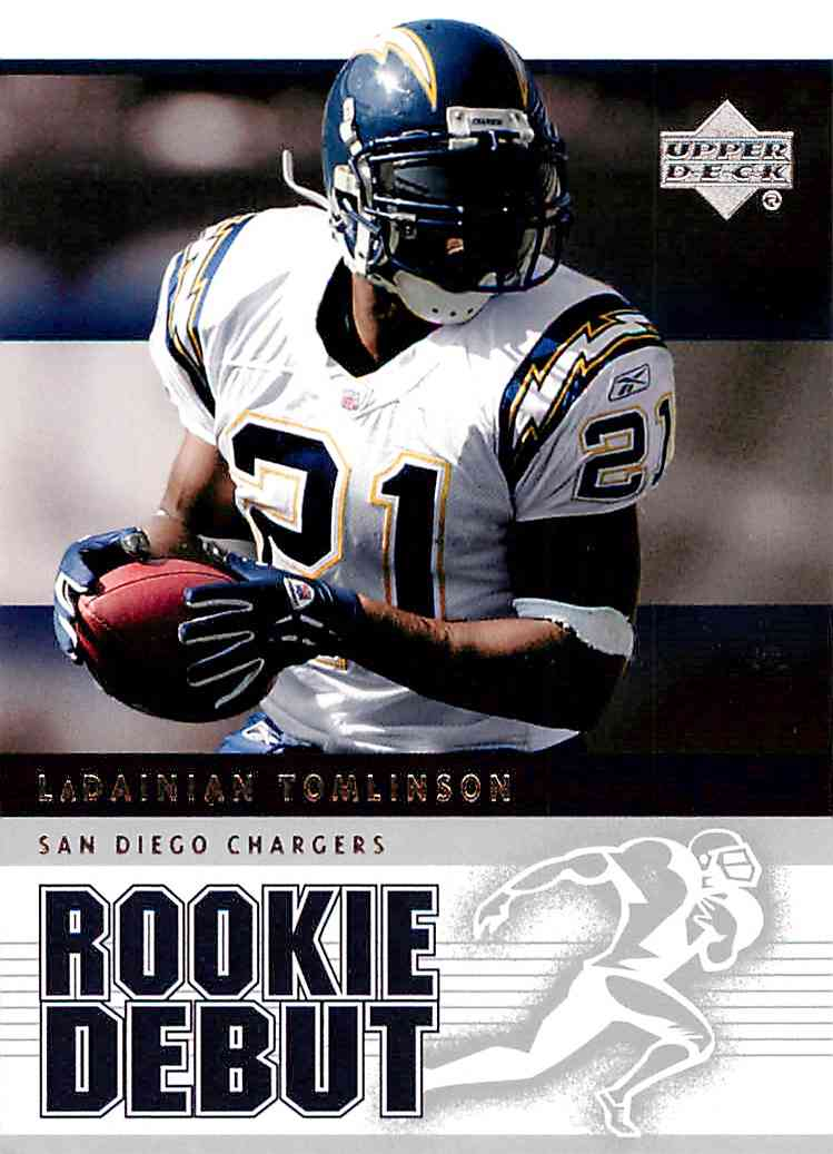 2005 Upper Deck Rookie Debut Ladainian Tomlinson #81 card front image