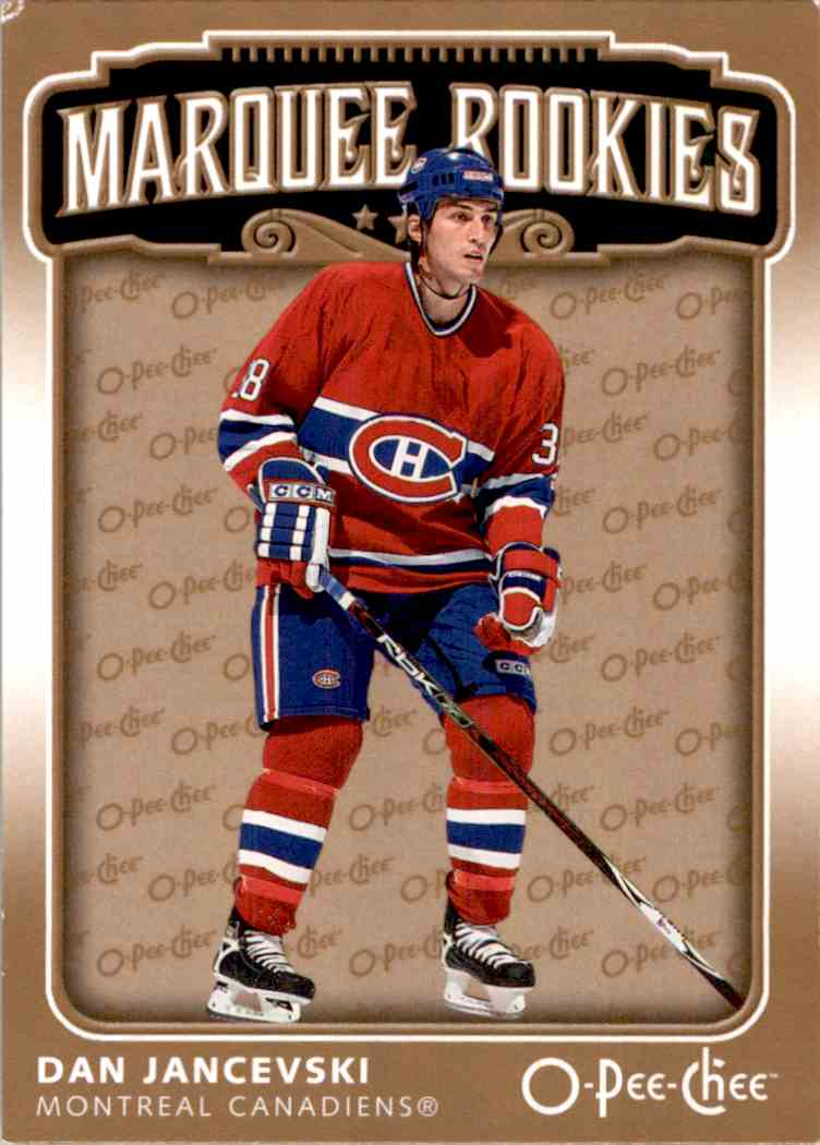 2006-07 O-Pee-Chee Marquee Rookie Dan Jancevski #532 card front image