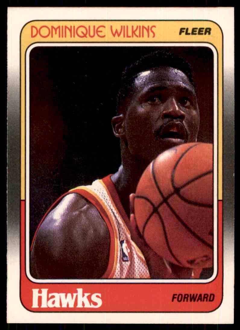 1988-89 Fleer Dominique Wilkins #5 card front image