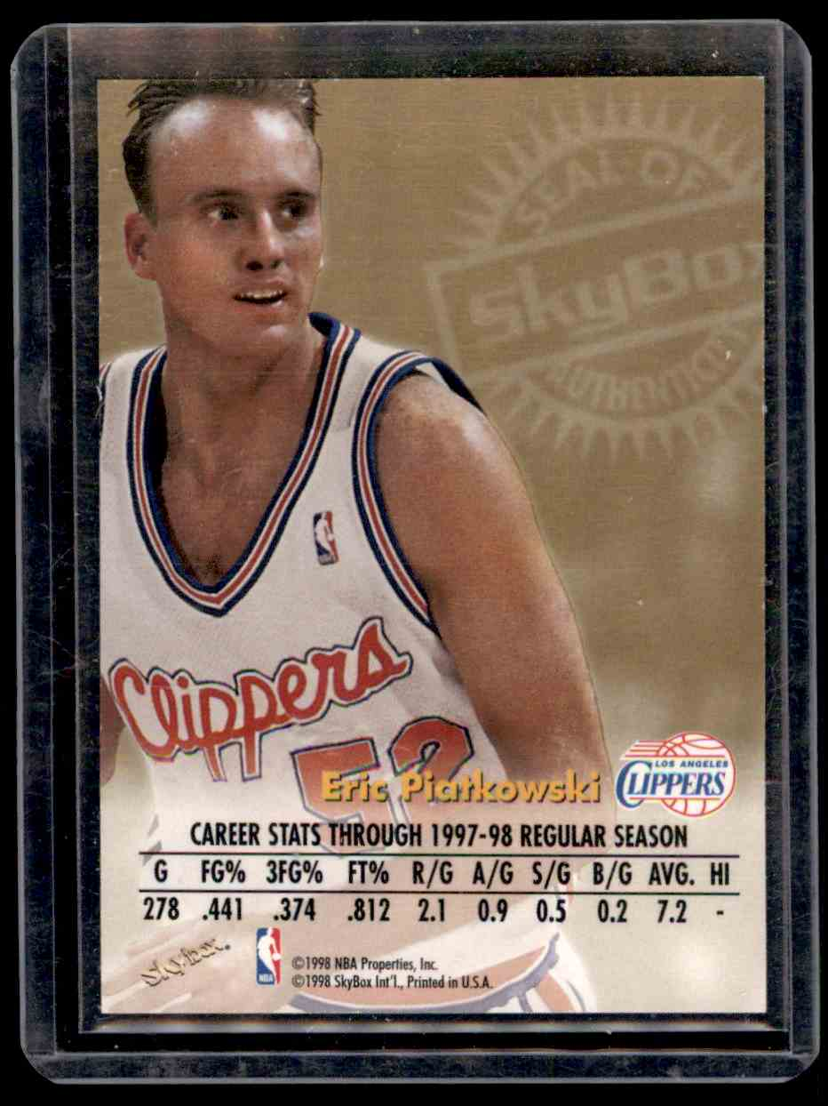 1998-99 Skybox Premium Autographics Eric Piatkowski #95 card back image