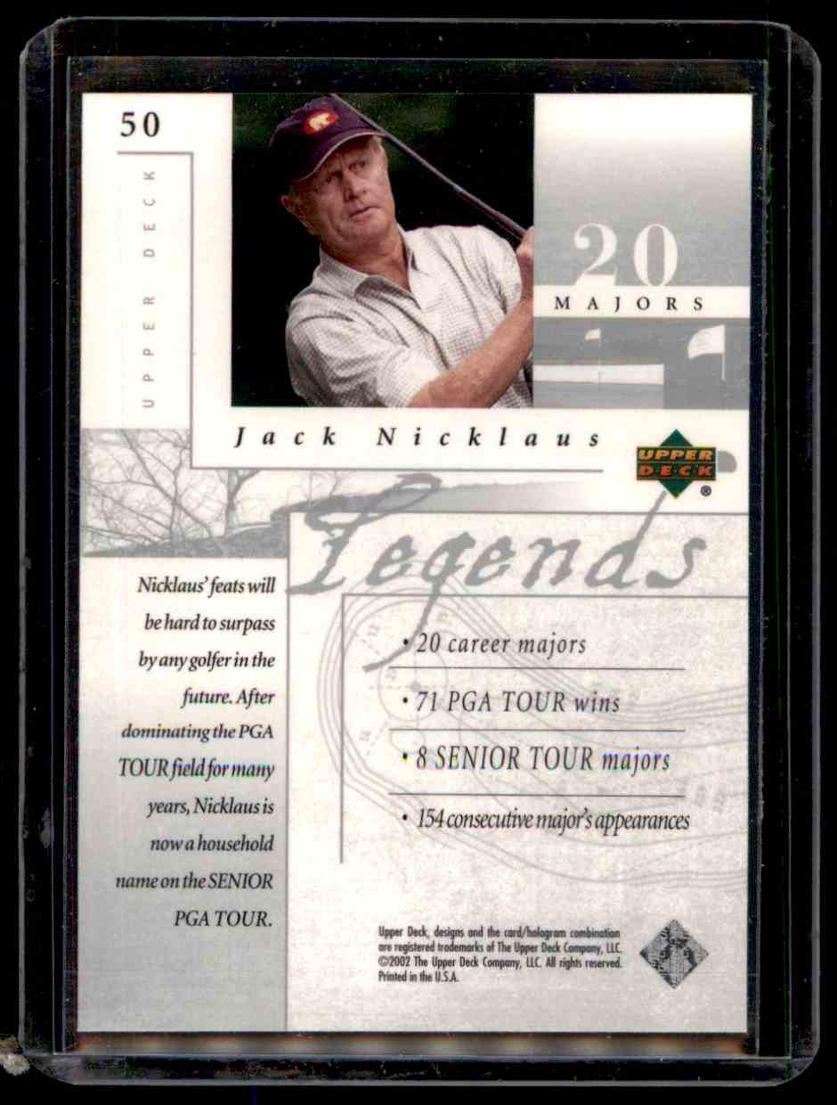 2002 Upper Deck Silver Jack Nicklaus #50 card back image