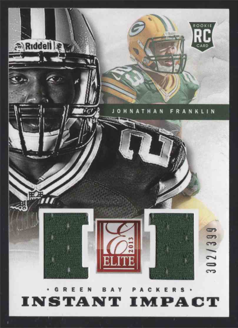2013 Elite Instant Impact Jerseys Johnathan Franklin #14 card front image