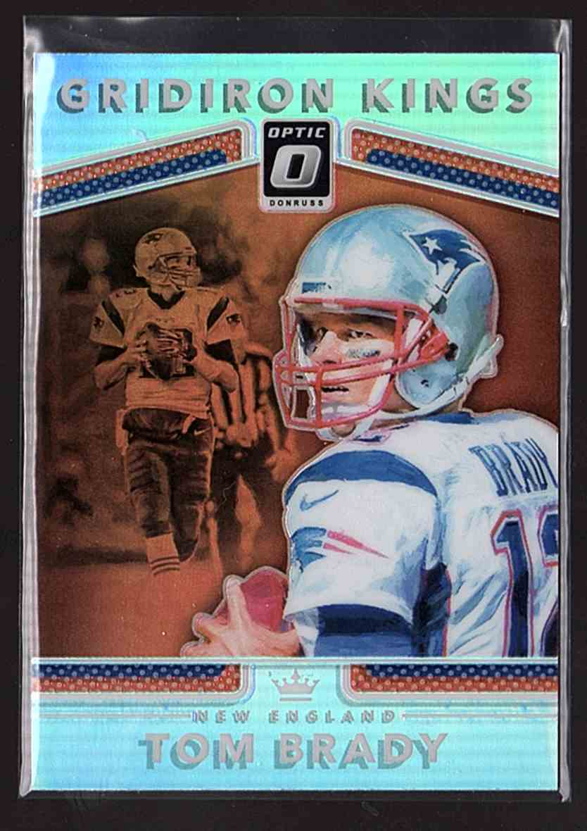 2017 Donruss Optic Gridiron Kings Tom Brady #16 card front image