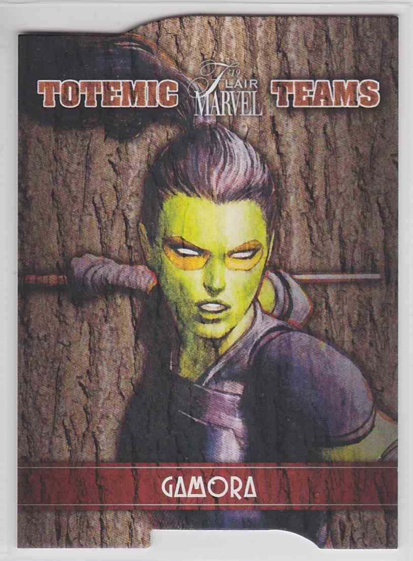 2019 Marvel Flair Totemic Teams Gamora #TT10 card front image